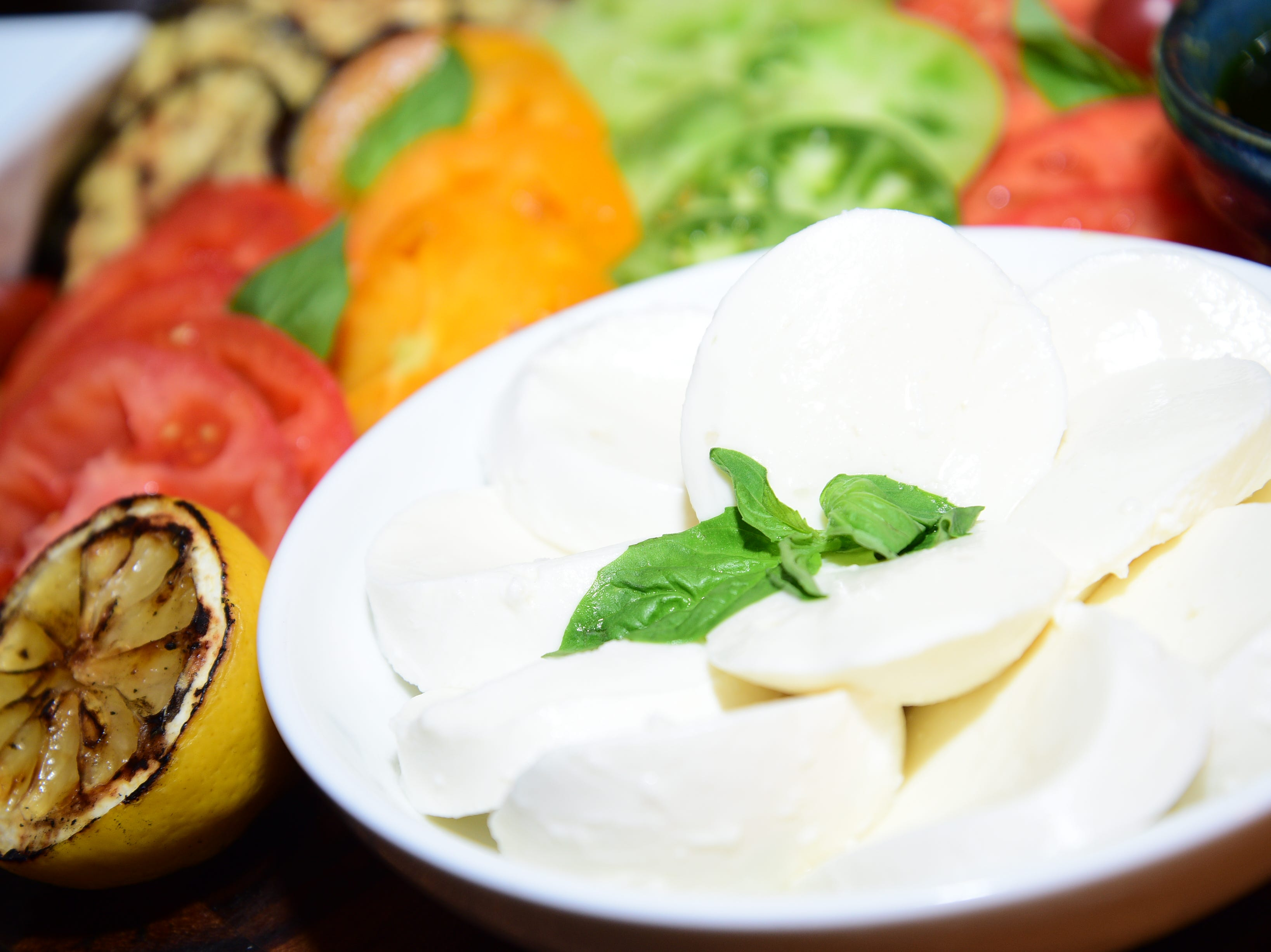 The Mozzarella and Heirloom Tomato Board is one of the new items being offered during the Phoenix Suns 2018-2019 season at Talking Stick Resort Arena.