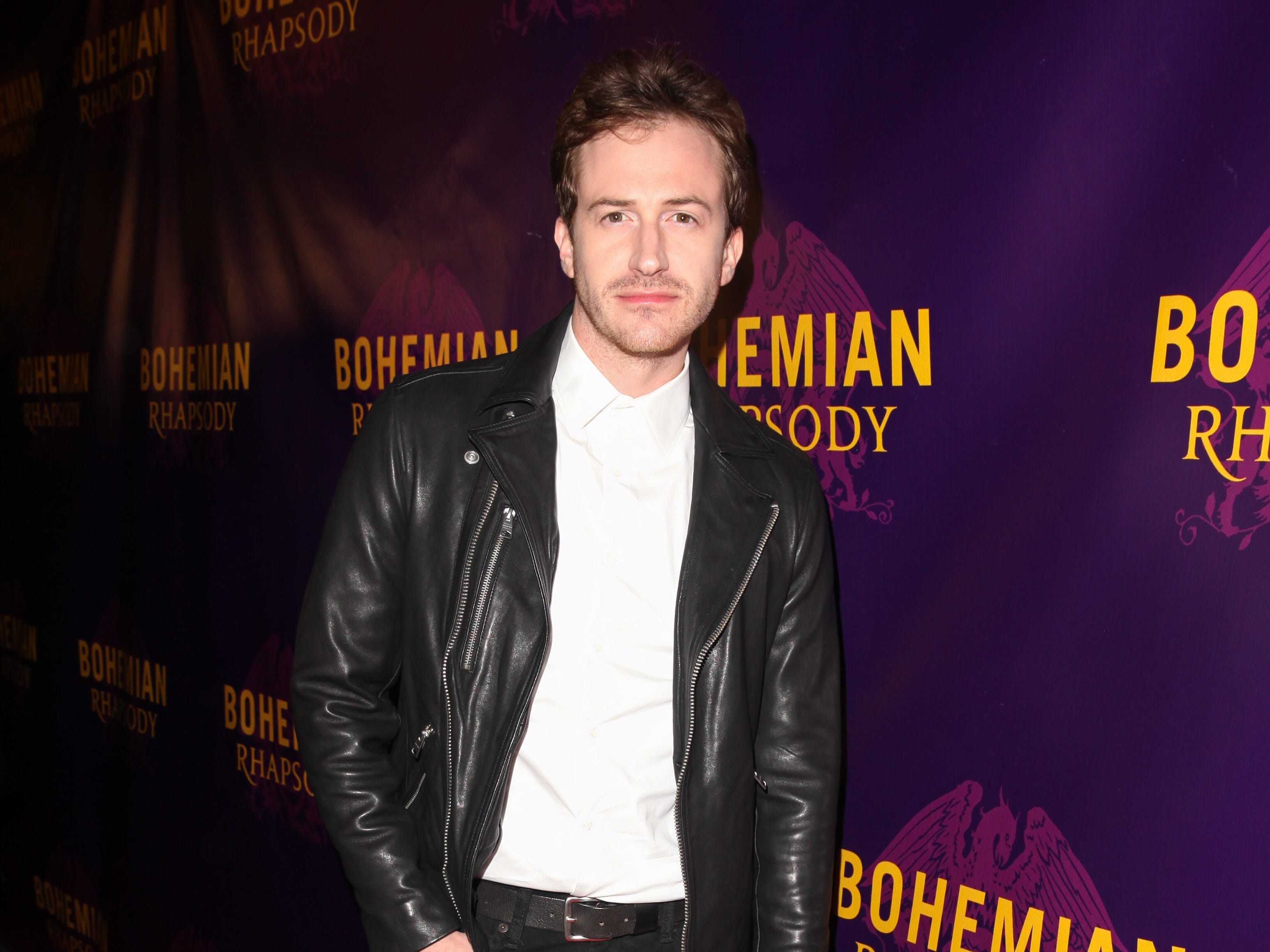 "Actor Joe Mazzello poses for a photo on the red carpet for a special screening of ""Bohemian Rhapsody"" at the Castro Theatre on October 5, 2018 in San Francisco, California."