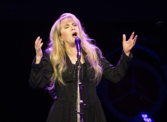 Stevie Nicks performs Oct. 25, 2016,  at Talking Stick Resort Arena, She's already in the Rock and Rock Hall of Fame as a member of Fleetwood Mac and would be  the first female inducted twice.