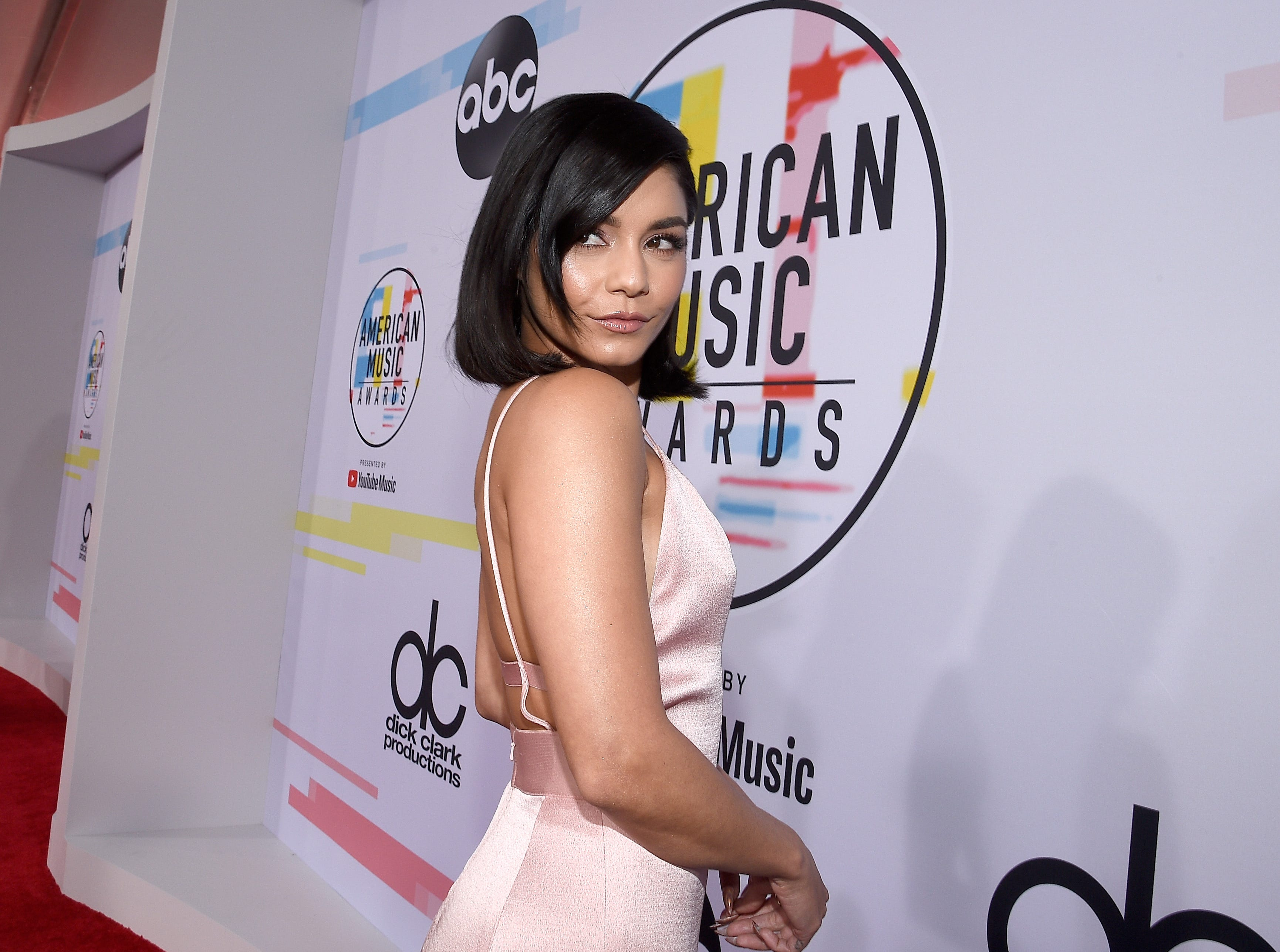 Vanessa Hudgens attends the 2018 American Music Awards at Microsoft Theater on October 9, 2018 in Los Angeles, California.