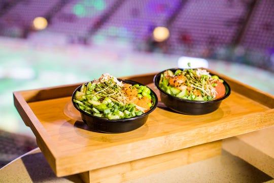 Ahipoki Bowl serves fresh fish over rice at its location inside Gila River Arena.
