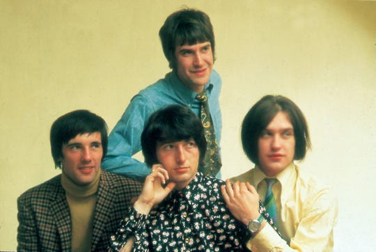 The Kinks in 1968 (clockwise from top) Ray Davies, Dave Davies, Pete Quaife, Mick Avory
