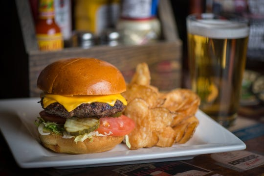 The All-American Burger is available at the new Cold Beer & Cheeseburgers location at Sun Devil Stadium.