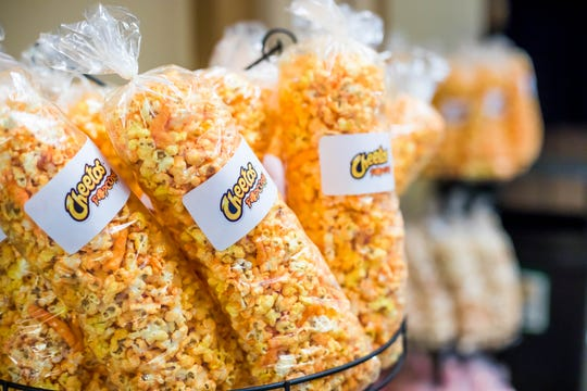 The classic chip meets a classic snack at the Cheetos Popcorn Cart.