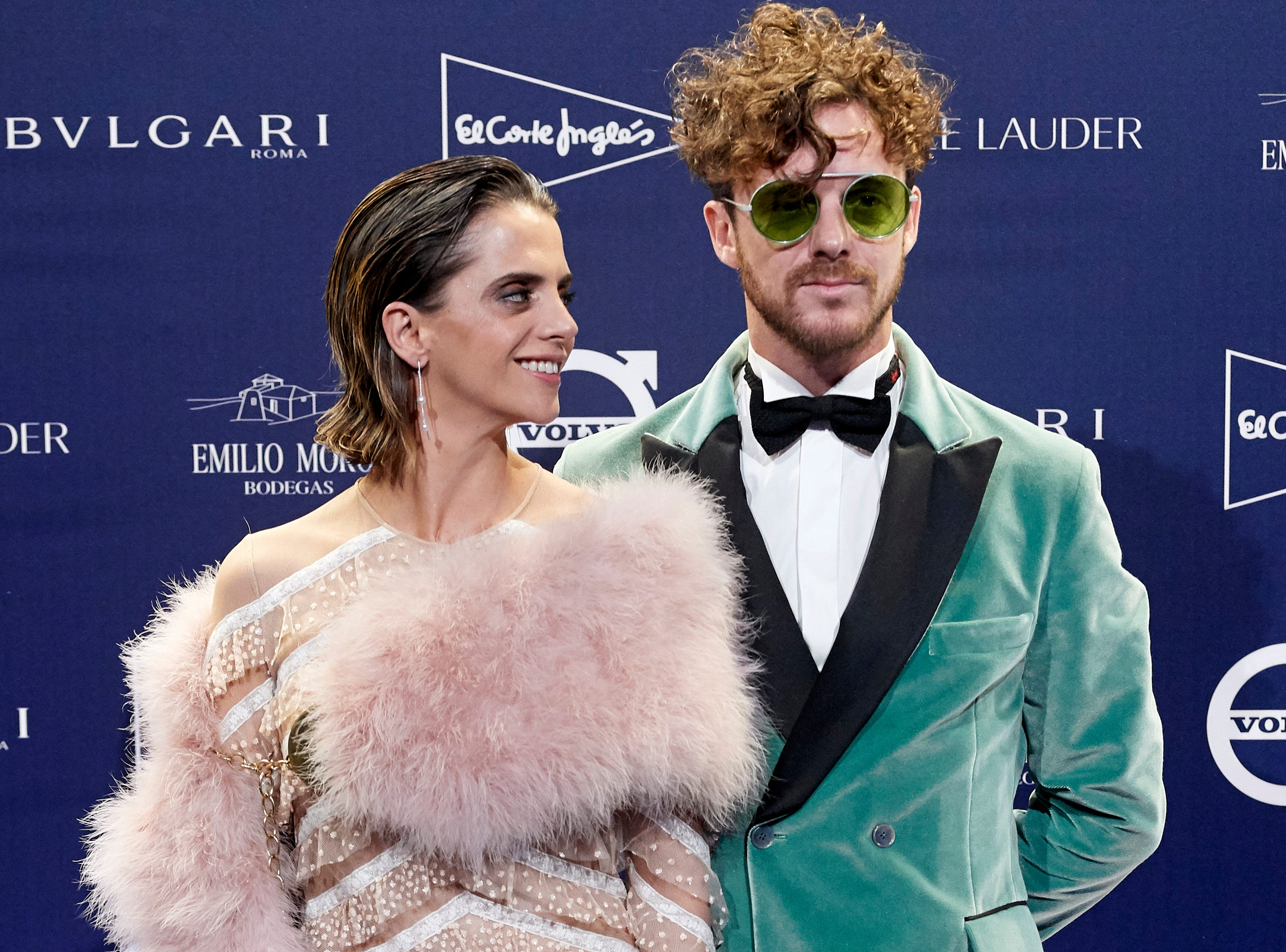 Actress Macarena Gomez and husband Aldo Comas attend an event at the Real Academia de Bellas Artes de San Fernando Museum on October 9, 2018 in Madrid, Spain.
