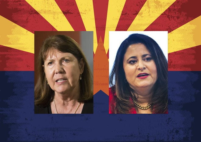 Democrat Ann Kirkpatrick (left) and Republican Lea Marquez Peterson are both running to represent the 2nd Congressional District.