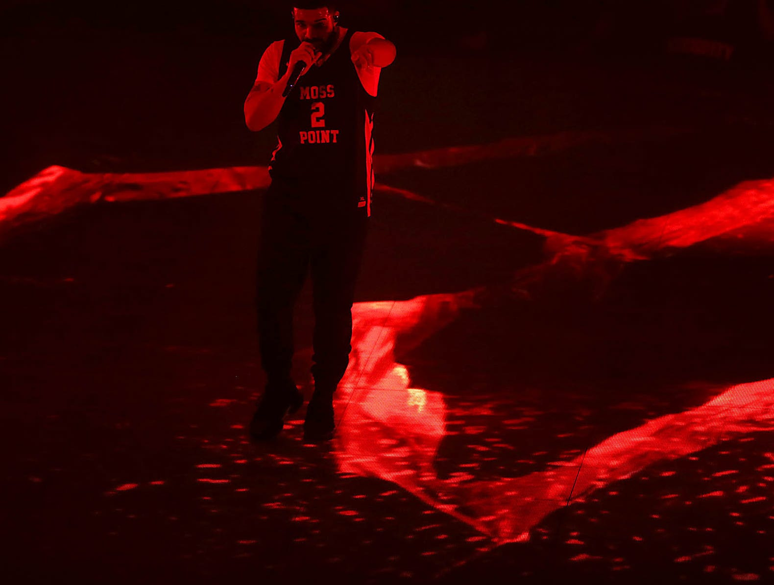 Drake performs during his Aubrey & The Three Migos Tour at Gila River Arena in Glendale on Monday, Oct. 8, 2018.