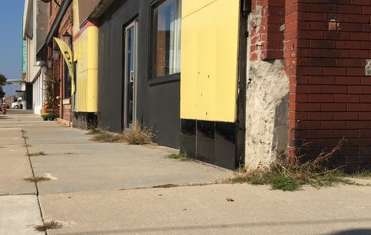 The former arcade and theater building at 401 Grand River Ave. was one of several to receive a fix-it ticket to address blight issues in the same area of downtown Port Huron within the last month. Its owner said he still hopes to restore the facade and reopen it as the Riviera Theatre.
