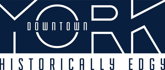 The new Downtown York logo is said to recognize the industrial history of the city.