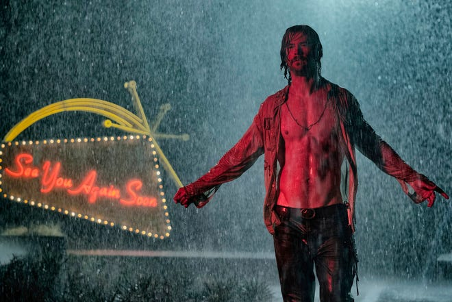 "Chris Hemsworth in a scene from ""Bad Times at the El Royale."" The movie opens Oct. 11 at Regal West Manchester Stadium 13, Frank Theatres Queensgate Stadium 13 and R/C Hanover Movies."