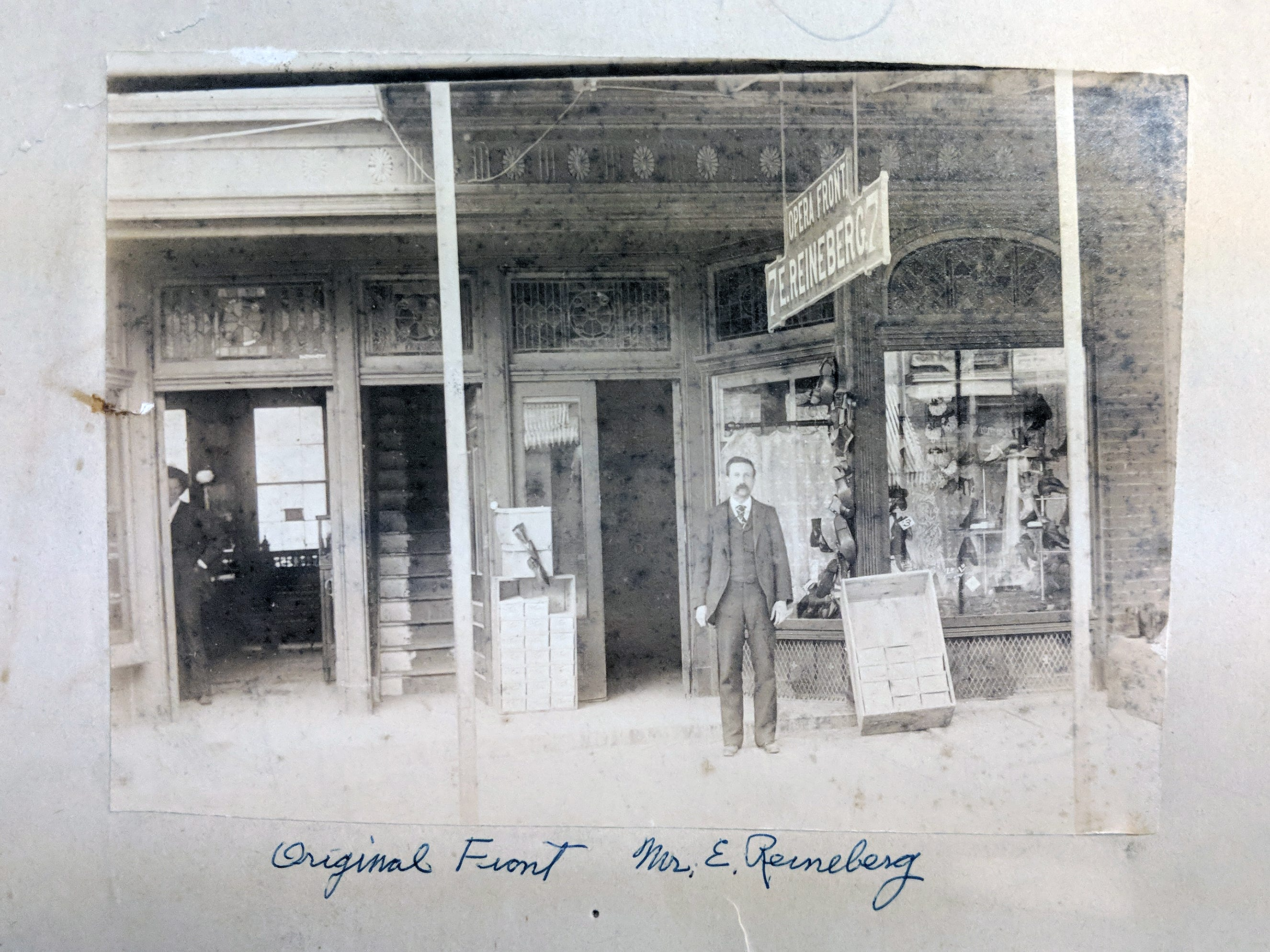 This is the original Reineberg's shoe store that opened in 1877.
