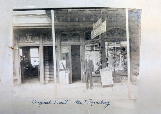 Edward Reineberg's original store, established in 1877, was not far from Continental Square on South George Street.