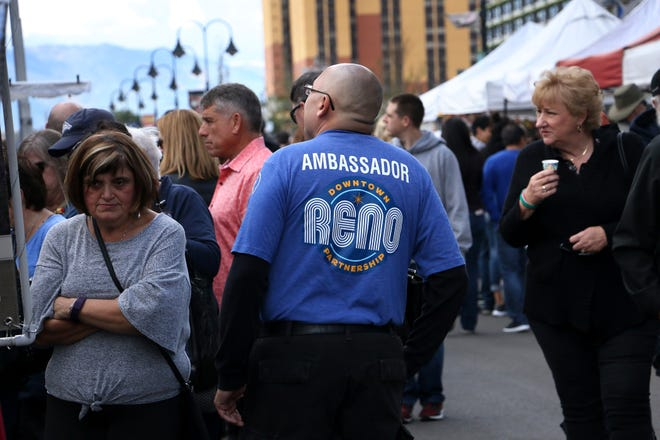 A new Downtown Ambassador is seen during the Eldorado Great Italian Festival in Reno on Oct. 6, 2018.