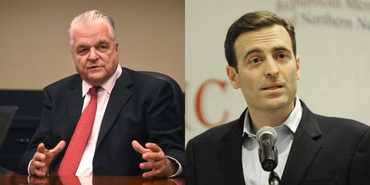 Steve Sisolak and Adam Laxalt, the Democratic and Republican nominees for Nevada governor in 2018.