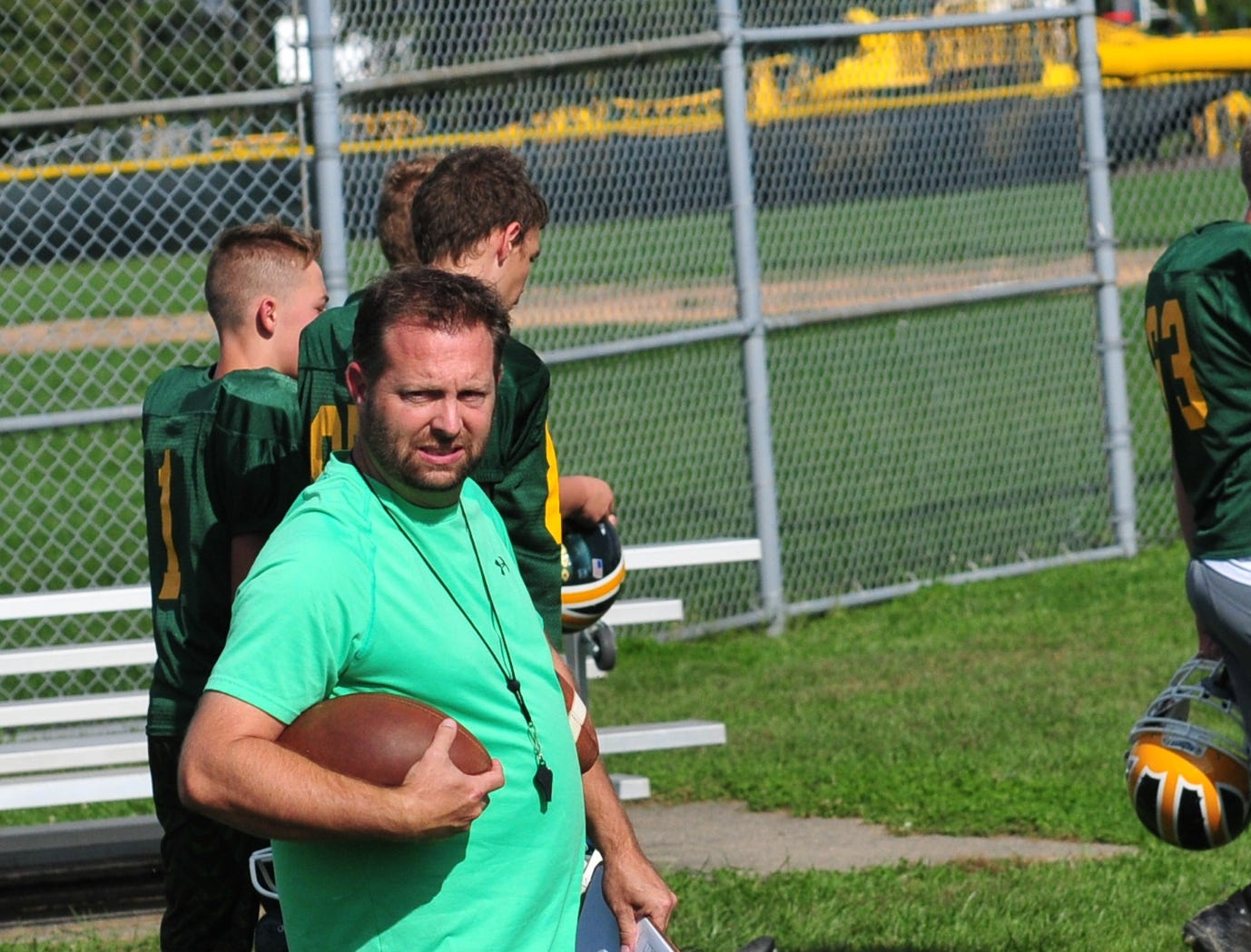 Ryan Halloran was named Northeastern High School's football co-coach after longtime head coach Mike Roeder resigned on Oct. 3, 2018.