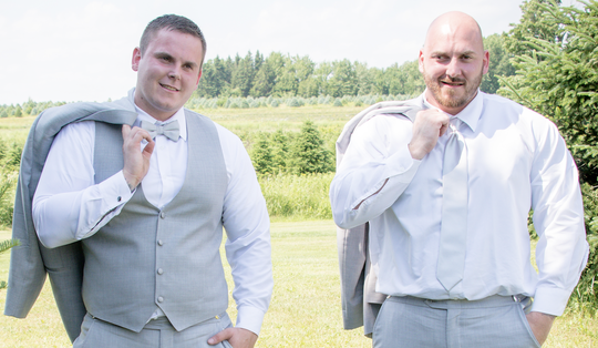 Brothers Axel Steenburg, left, and Rich Steenburg were among the 20 killed in a limousine crash in Schoharie, New York, on Oct. 6, 2018.