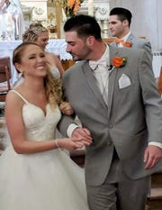 Erin and Shane McGowan attend their wedding reception in Amsterdam, N.Y. in 2018. Erin, 34, scheduled appointments at a pediatrician's office. Shane, 30, worked for Miracle Ear. They lived in nearby Amsterdam. The couple were among the 20 people who died in Saturday's limousine crash in Schoharie, N.Y.