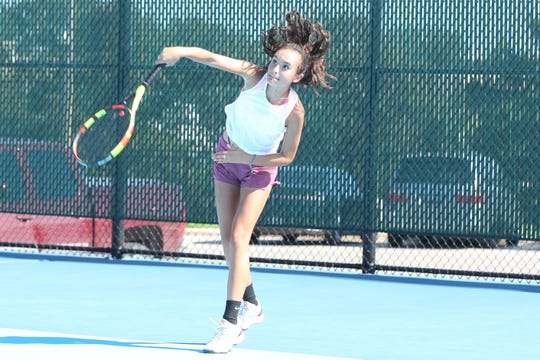 San Angelo Central High School's Olivia Henderson was selected as the Newcomer of the Year on the All-District Tennis Team for the 2018 fall season.