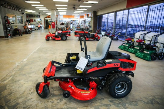 Concho Power Equipment at 2015 Austin St. sells lawnmowers, trimmers, saws and blowers.
