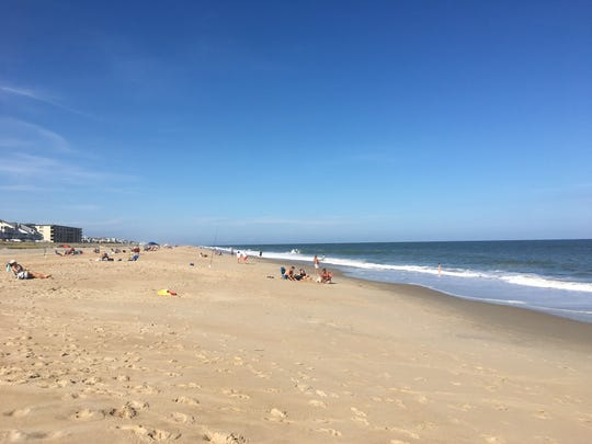 Beachgoers take advantage of a mid-70s Tuesday, Oct. 9 in Ocean City.