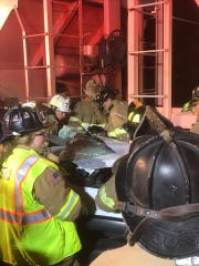The Frankford Volunteer Fire Company assisted in responding to the truck versus train crash on Monday, Oct. 8, 2018 to help with extrication.