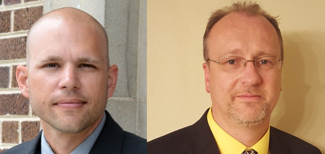 Philip Schaefer and Cory Roeseler are both running for sheriff of Sheboygan county this coming November.