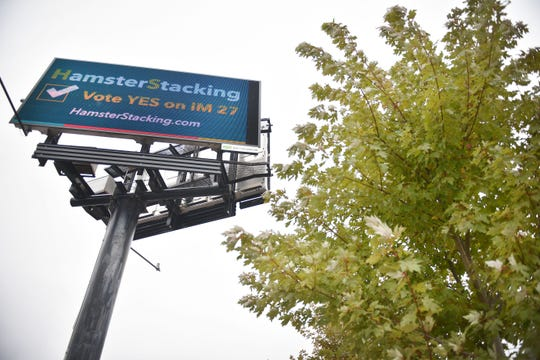 Electronic billboard advertisement on Western Ave Tuesday, Oct. 9, in Sioux Falls. A campaign claiming it supports Initiated Measure 27, a proposal that won't appear on the ballot in South Dakota, bought billboard ads in Sioux Falls.
