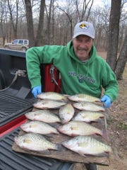 Some of the big fall crappie from Table Rock shows how good fall crappie fishing can be.