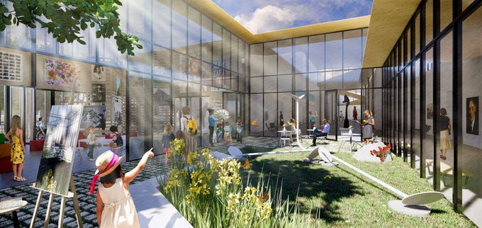 The Springfield Art Museum presented a new 30 Year Master Plan to City Council on Oct. 9, 2018. Renderings show transformations planned to the museum building and the surrounding area.