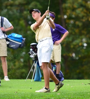 Wilson Memorial's Patrick Smith carded a 4-over-par 75 to finish tied for fourth and earn all-state honors at the VHSL Class 2 state golf championships at Lonesome Pine Country Club in Big Stone Gap. Va., on Tuesday, Oct. 9, 2018.