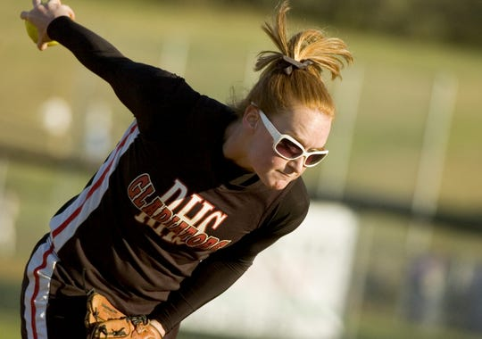 Riverheads' Ali Painter, shown pitching during a 2007 game, was inducted into the school's hall of fame this year.