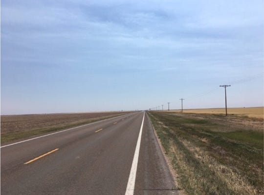 The stretch of road in Kansas where John Egberts was hit by a car, according to his wife, Susan.