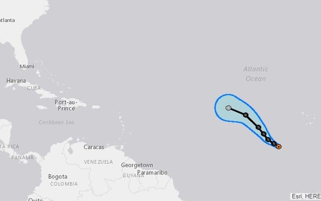Tropical Storm Nadine.