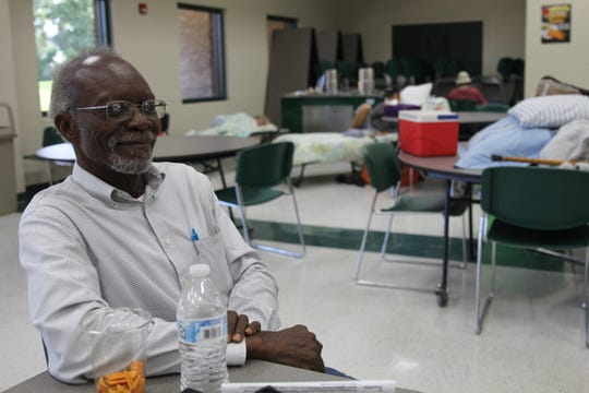Joe Colson, Jr., 73, stayed at the shelter at Lincoln High before Hurricane Michael hit.