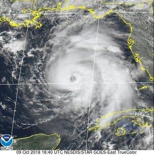 Hurricane Michael 1 p.m. Oct. 9, 2018
