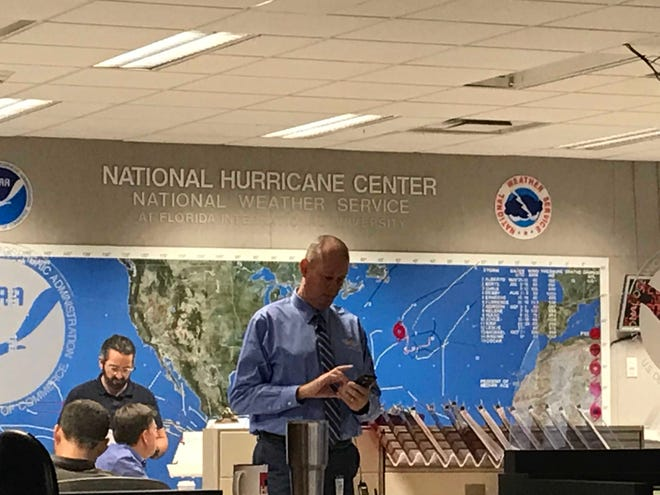 Ken Graham, director of the National Hurricane Center in Miami, prepares for a very busy 48 hours waiting for Hurricane Michael to hit land.