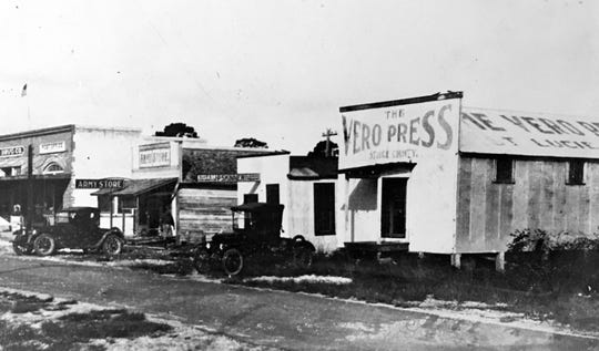 The Vero Press building, early 1900s.