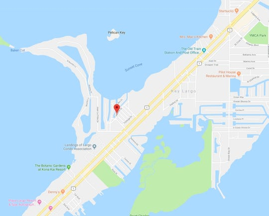 Key Largo Florida Map.Florida International University Finds Red Tide In Key Largo Canal