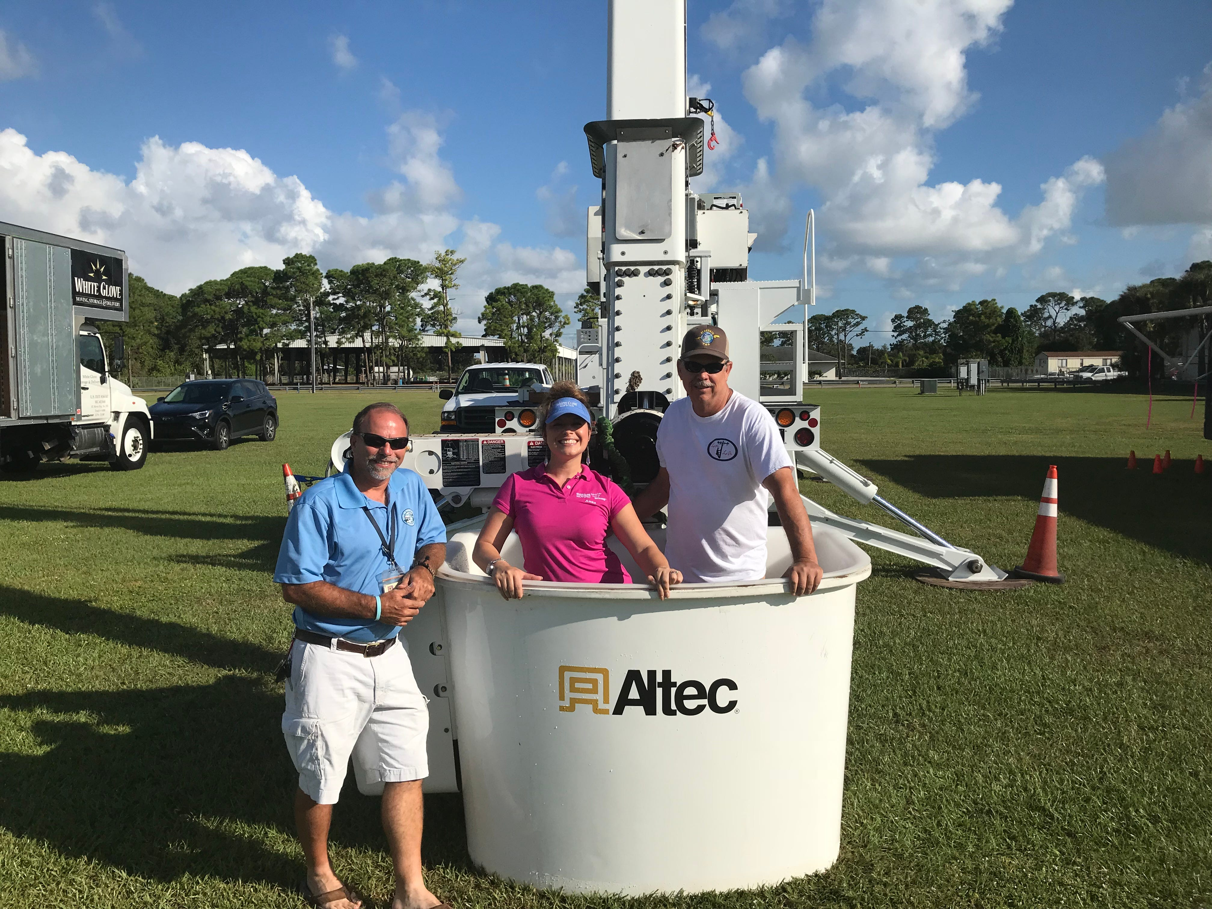 The Vero Beach Electric Department's Marvin Miller, Anna Valencia Tillery and Roger Kelly.