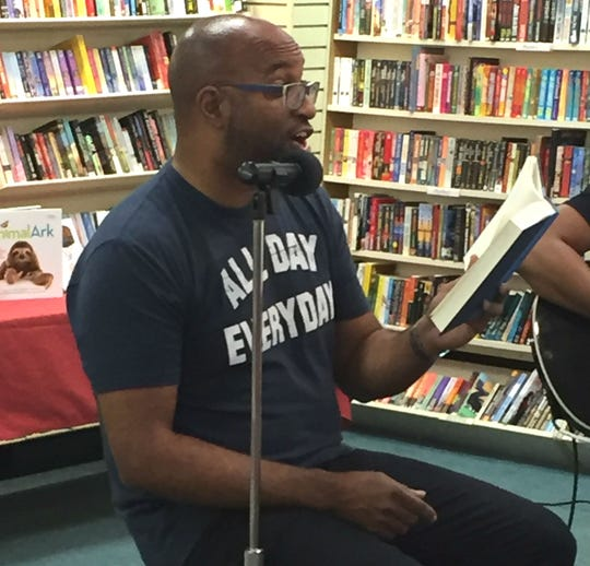 New York Times bestselling author Kwame Alexander during a recent visit to the Vero Beach Book Center.