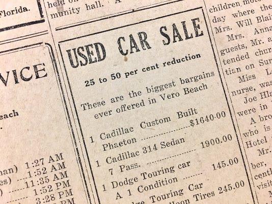 Car Sale Jan 13 1928