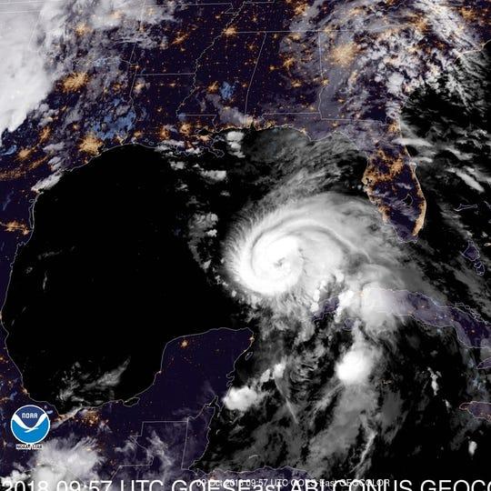 Hurricane Michael 6 a.m. Oct. 9, 2018