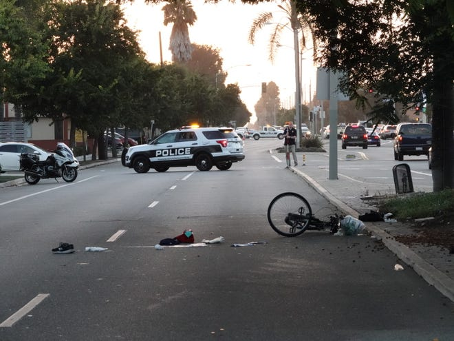 Oxnard police investigated a fatal accident Monday evening after a 60-year-old man riding a bicycle reportedly veered in front of a bus on Gonzales Road.