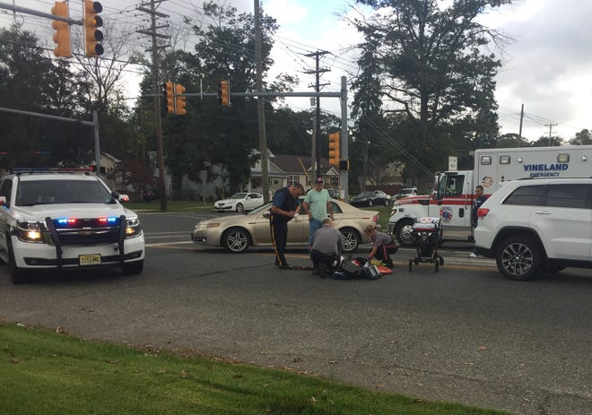 Police are investigating a pedestrian-motor Tuesday at Park and East avenues in Vineland.