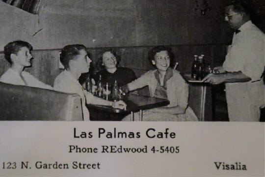 Inside Las Palmas in the 1950s, before it moved to the current Main Street location.