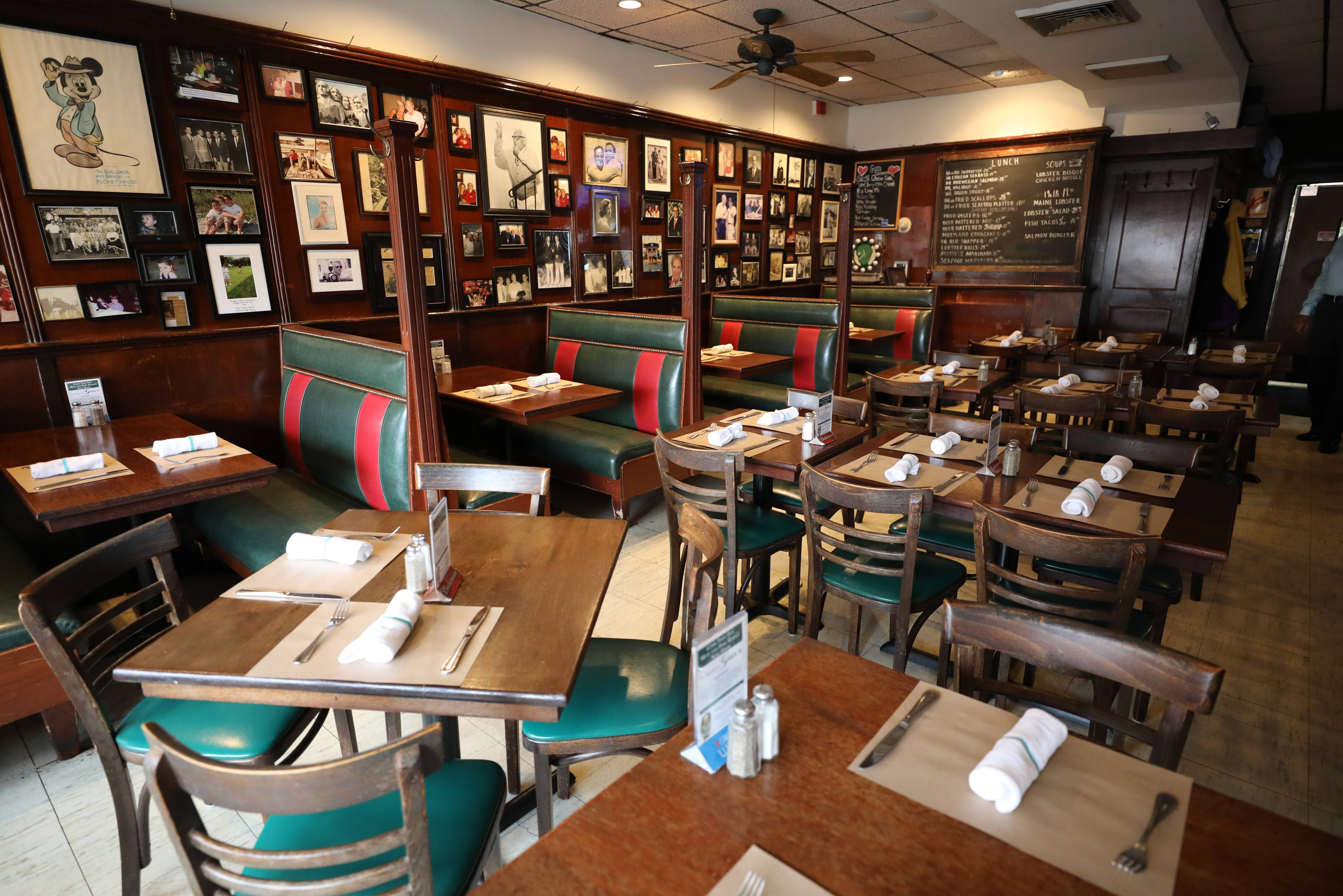 The dining room at Gus's Franklin Park Restaurant on Halstead Avenue in Harrison, pictured Oct. 9, 2018.