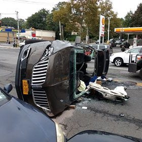 Person injured in Yonkers SUV rollover