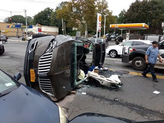 Rollover crash in Yonkers