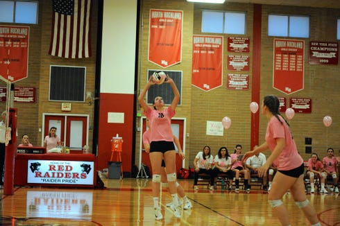 North Rockland's Annie McCarthy was named the lohud volleyball Player of the Week on Oct. 9, 2018.