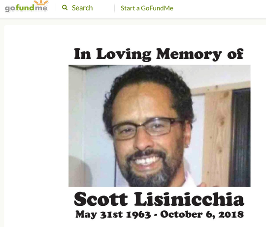 A GoFundMe page was set up Oct. 8, 2018, to raise money for the funeral of Scott Lisinicchia, the driver of the limousine that crashed Oct. 6 in Schoharie, New York, killing himself, 17 passengers and two bystanders.